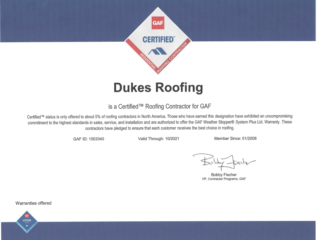 Dukes Roofing Images